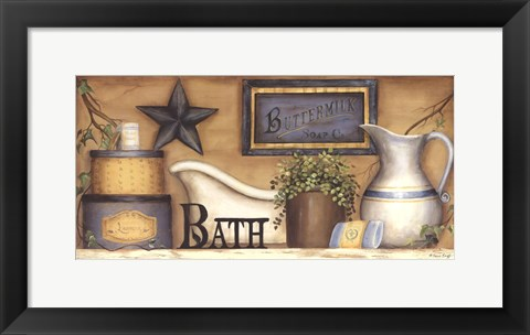 Framed Buttermilk Soap Co. Print