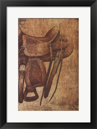 Framed Saddle II Print