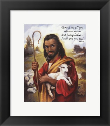 Framed Christ the Shepherd Print