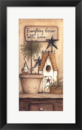 Framed Grows With Love Print
