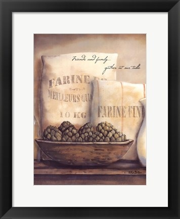 Framed Gather At Our Table Print