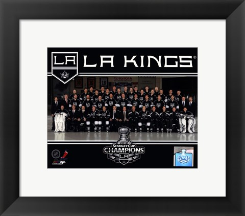 Framed Los Angeles Kings 2012 NHL Stanley Cup Champions Team Photo Print