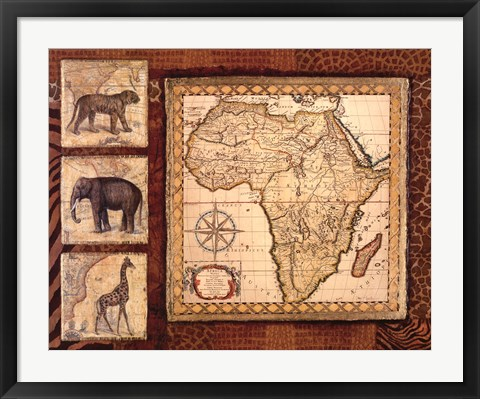 Framed Journey To Africa I Print