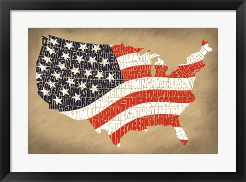 Framed Star Spangled Banner Print