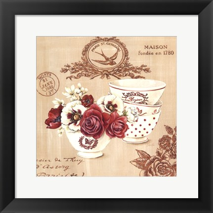 Framed Parisian Flowers IV Print