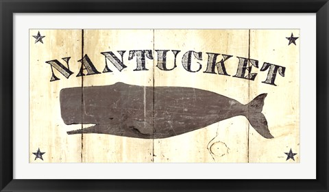 Framed Nantucket Whale Print