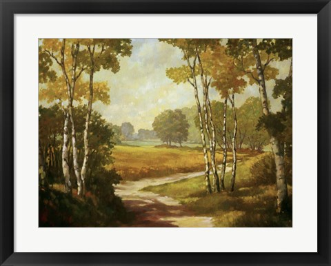 Framed Country Walk I Print