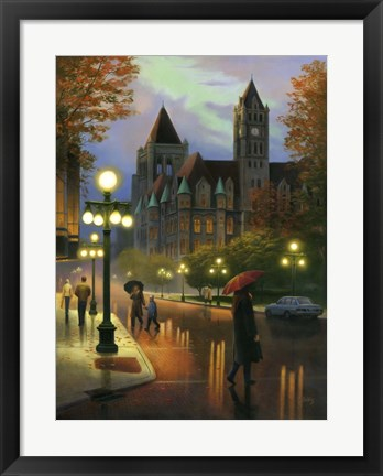 Framed Rainy Twilight Print