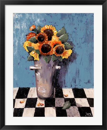 Framed Bright Sunflowers Print