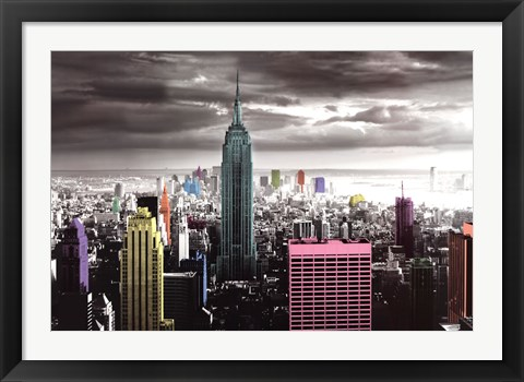 Framed New York - Color Splash Print