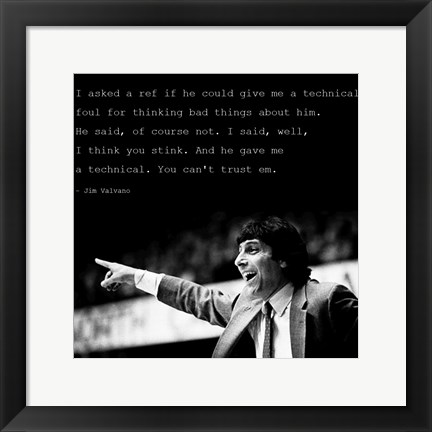 Framed You Can't Trust Em, Jimmy V Print