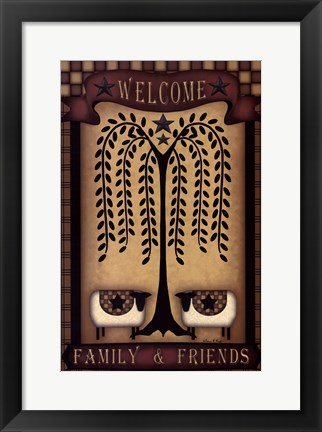 Framed Welcome Family & Friends Print
