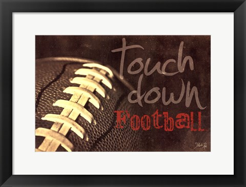 Framed Touchdown Print