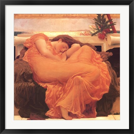 Framed Flaming June Print