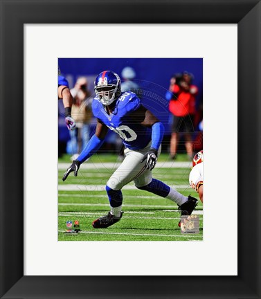 Framed Jason Pierre-Paul On The Football Field Print