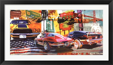 Framed Muscle Cars Print
