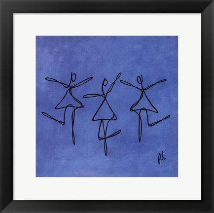 Framed Peace - Blue Dancers Print