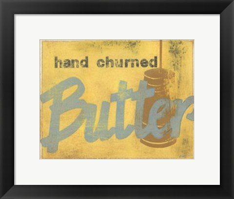 Framed Butter Print