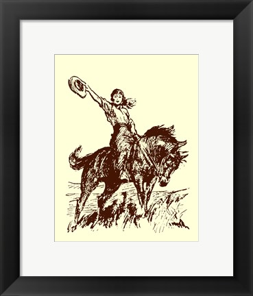 Framed Small Cowgirl Print