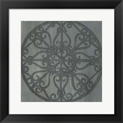 Framed Decorative Elegance V Print