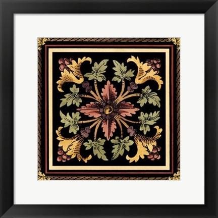 Framed Decorative Tile Design I Print