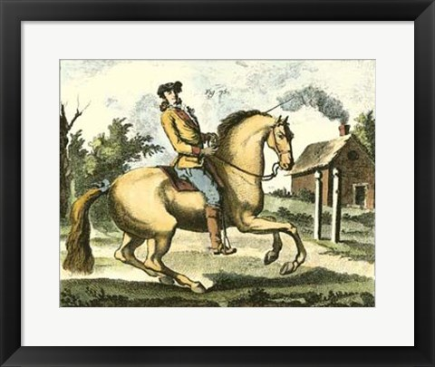 Framed Equestrian Training I Print