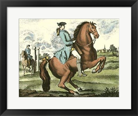 Framed Equestrian Training III Print