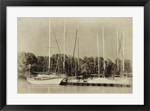Framed Waiting to Sail II Print