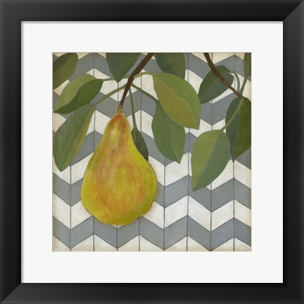 Framed Fruit and Pattern II Print