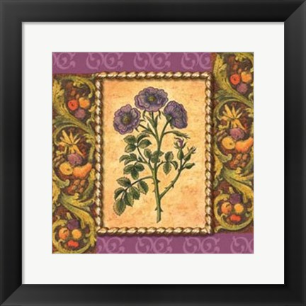 Framed Victorian Floral III Print