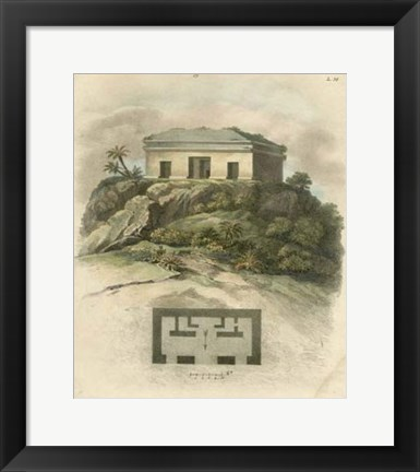 Framed Monuments of New Spain III Print