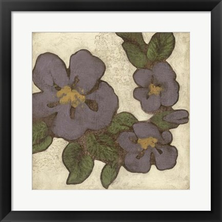 Framed Plum Blossoms II Print