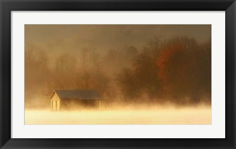 Framed Morning on Spring Creek Print