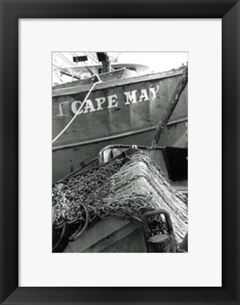 Framed Fishing Trawler- Cape May Print
