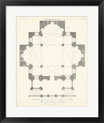 Framed Plan for a Chapel Print