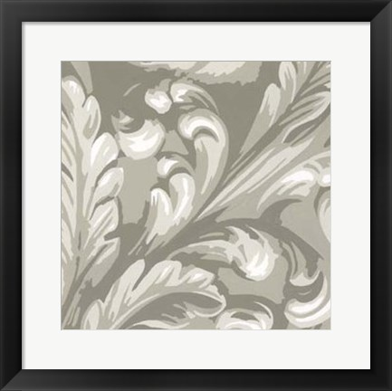 Framed Decorative Relief IV Print
