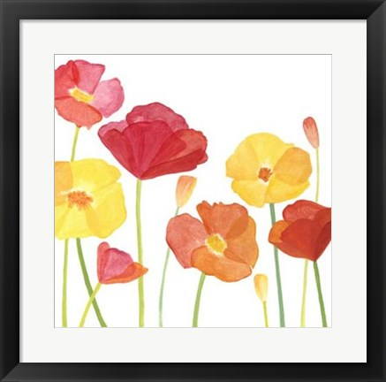 Framed Simply Poppies I Print