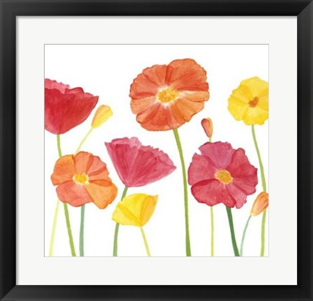 Framed Simply Poppies II Print