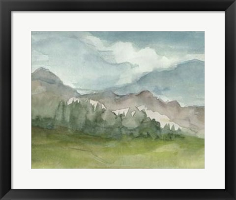 Framed Plein Air Mountain View II Print