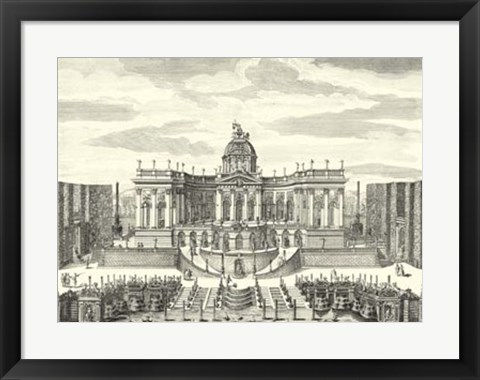 Framed Fountains of Versailles IV Print
