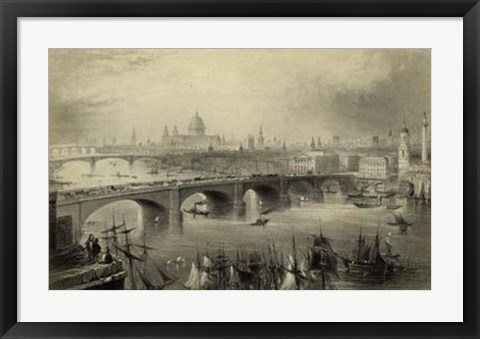 Framed General View of London Print