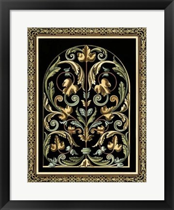 Framed Baroque Panel III Print