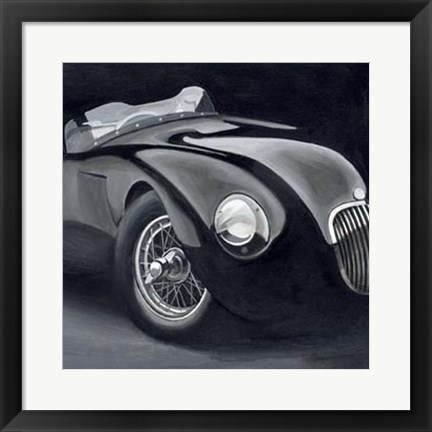 Framed Black & Chrome I Print