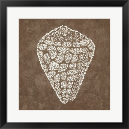 Framed Embroidered Shells IV Print