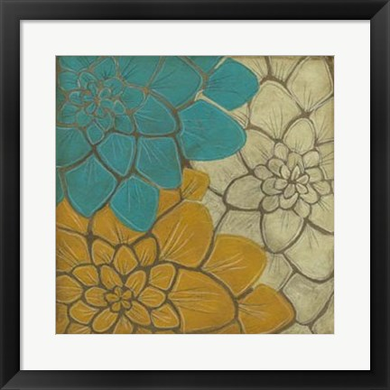 Framed Layered Dahlias II Print