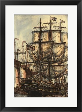 Framed Printed Majestic Ship I Print