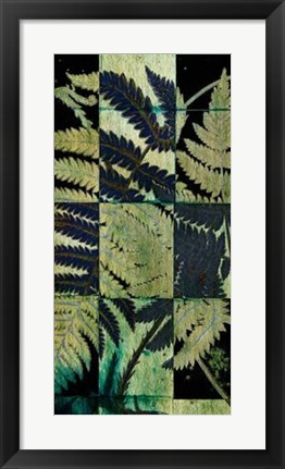 Framed Midnight Ferns I Print