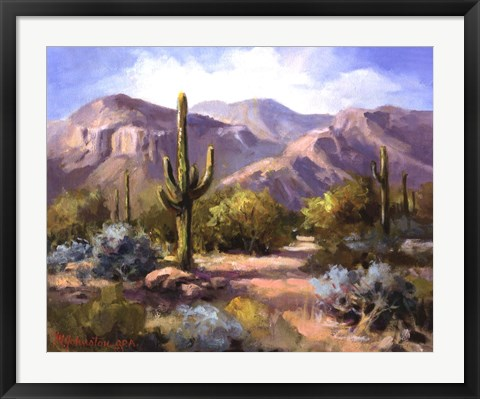 Framed Catalina Mountain Foothills Print