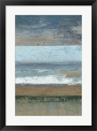 Framed Coastal Abstract I Print