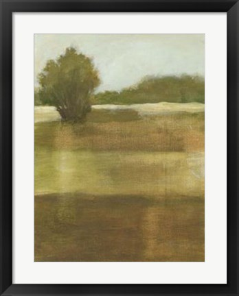 Framed Tranquil Meadow I Print